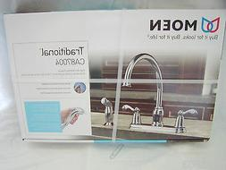 NEW Moen Traditional CA87004 High Arc 2 Handle Kitchen Fauc