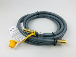 10 Feet 3/8 Natural Gas Hose, Propane Grill Quick Connect/Di