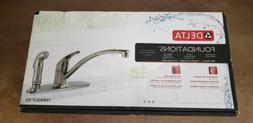 Delta 13900LF-SS Classic Single Handle Kitchen Faucet with S