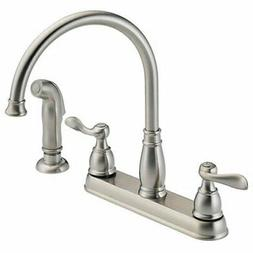 Delta Faucet Windemere 2-Handle Kitchen Sink Faucet with Sid
