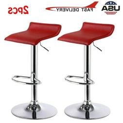 2PCS Adjustable Bar Stools Counter Height PU Leather Barstoo