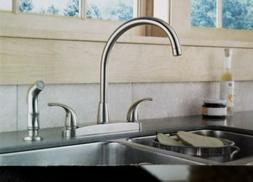 3.75 Two Handle Centerset Kitchen Faucet - Finish: Stainless
