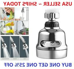 360 Degree Rotating Faucet Movable Kitchen Tap Head Water Sa