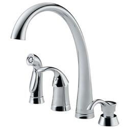 Delta 4380-SD-DST Pilar Single Handle Kitchen Faucet with Sp