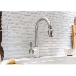 Blanco 442061 Sonoma 1.5 Bar Sink Faucet, White/Stainless Du