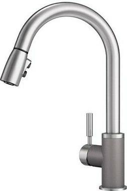 Blanco 442070 Sonoma 2.2 Bar Sink Faucet, Metallic Gray/Stai