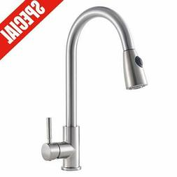 Commercial Pre-Rinse Pull Down Kitchen Sink Faucet with Spra