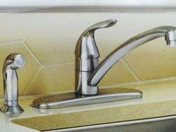 MOEN Adler Single-Handle Low Arc Standard Kitchen Faucet w/S