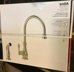 Pfister Alina 1-Handle Kitchen Faucet with Side Spray, Stain