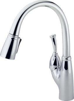 Delta Faucet Allora Single-Handle Kitchen Sink Faucet with P