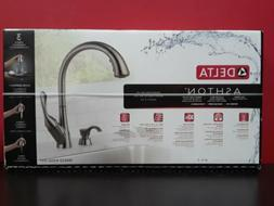 Delta Ashton Black Stainless Finish Kitchen Faucet 19922Z-KS