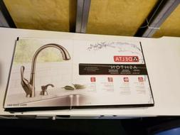 Delta Ashton Black Stainless Finish Kitchen Faucet