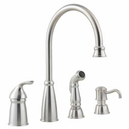 Pfister Avalon Stainless Kitchen Faucet 4 Holes One-Handle w