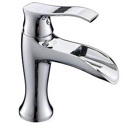 VAPSINT Beauty One Handle Chrome Bathroom Sink Faucet, Water