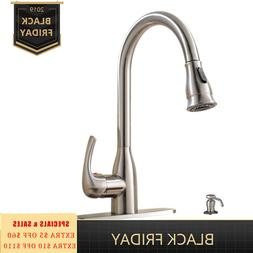 Stainless Steel Touch Sensor Kitchen Sink Faucet Pull Out Sp