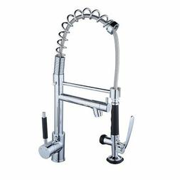 """Beelee BL0782 20"""" Single Handle Pull Down Spray Kitchen Fauc"""