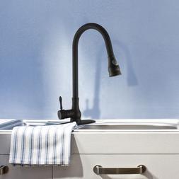 Black Water Oil Rubbed Bronze Kitchen Faucet Swivel Sink Spr
