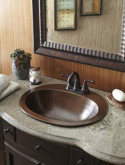 Sinkology Seville Copper Drop-in Bath Sink with Overflow in