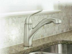 MOEN Brecklyn Pull-Out Sprayer Kitchen Faucet in Spot Resist