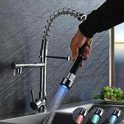 Chrome Black Kitchen Faucet Swivel Spout Kitchen Faucet Sink