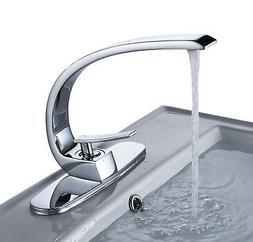 Rozin Single Hole Bathroom Basin Sink Faucet Mixer + Cover P