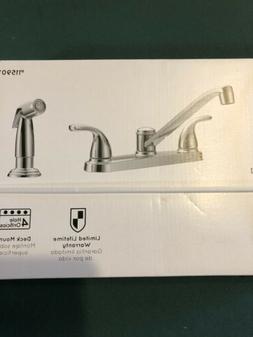 Project Source Chrome Kitchen Faucet 2-Handle Deck Mount Low