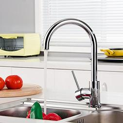 GOOAO Chrome Kitchen Faucet High Arc Easy Installation with