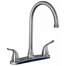 Classic All Metal High Arc Swivel Kitchen Faucet for 3 Hole