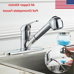 Classic Single Handle Kitchen Sink Faucet Tools w/Pull Out S