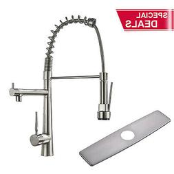 Commercial Kitchen Faucets with Pull Down Sprayer Single Han