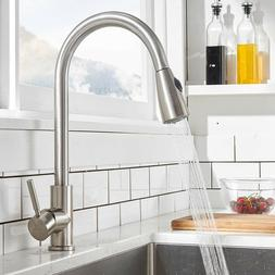 commercial single handle stainless steel pull out