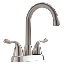 VAPSINT Commercial Two Handle Stainless Steel Brushed Nickel