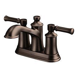 Moen Dartmoor Two-Handle Low Arc Bathroom Faucet, Oil Rubbed