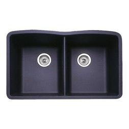 Blanco 511-702 Diamond Equal Double Bowl Kitchen Sink, Anthr