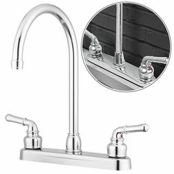 Dual Handle Kitchen Sink Faucet Durable Luxury Chrome Plated