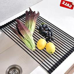 Foldable Stainless Steel Dish Drying Rack,?Heat Resistant Ro