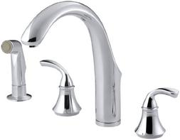 Forte Widespread Kitchen Faucet with Side Spray - Finish: Po