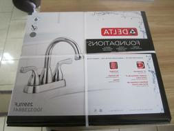 Foundations 4 in. Centerset 2-Handle Bathroom Faucet in Chro