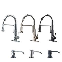 Friho Commercial Kitchen Faucet Pull Out Spray Swivel Single