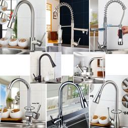 Gooseneck Kitchen Sink Faucet Mixer Tap Deck Mount Steam Pul