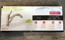 Delta Grant Pull-Out  Kitchen Faucet-Stainless 16953-SS-DST
