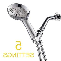 Handheld Shower Head, 4.24 Inches Face Multi Function 5 Sett