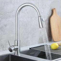 High-Quality Kitchen Faucet Pull Out Sprayer Single Hole Swi
