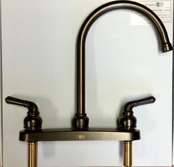 Lasalle Bristol High Rise Kitchen Faucet Dual Handle Oil Rub