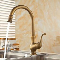 Home Kitchen Brass Swivel Spout Faucet Single Handle Vessel