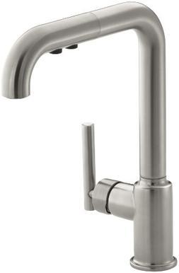 KOHLER K-7505-VS Purist Primary Pullout Kitchen Faucet, Vibr