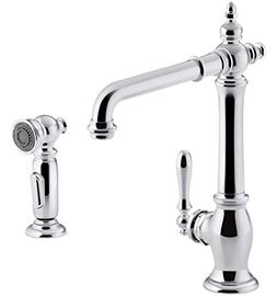 KOHLER K-99265-CP Artifacts Single-Hole Kitchen Sink Faucet