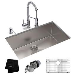 KRAUS KHU100-30-1610-53CH Set with Standart PRO Stainless St