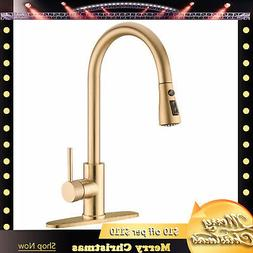 KINGO HOME Lead Free Kitchen Sink Faucet Swivel Pull Out Spr