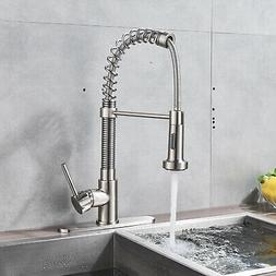 KINGO HOME Stainless Steel Kitchen Sink Faucet Swivel Pull O